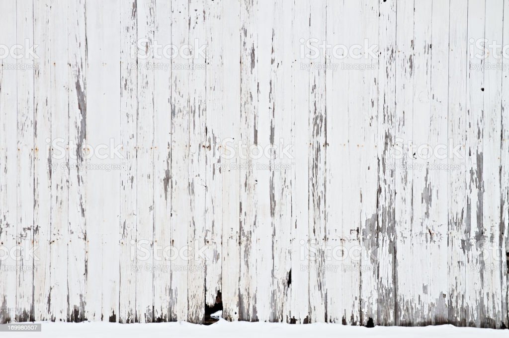 White Barn Background stock photo