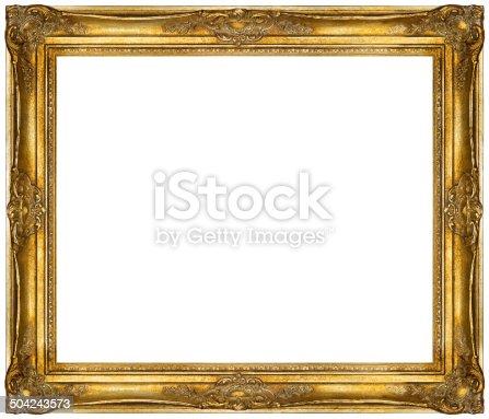 508897972 istock photo White baroque Frame isolated on white background. 504243573