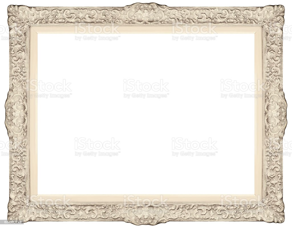 White Baroque Frame Stock Photo & More Pictures of 1950-1959 | iStock