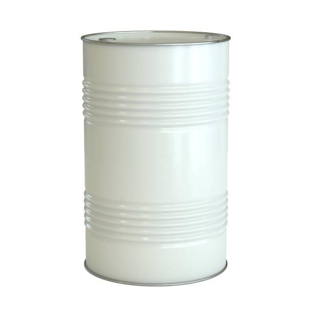 White barrel isolated on the white background stock photo