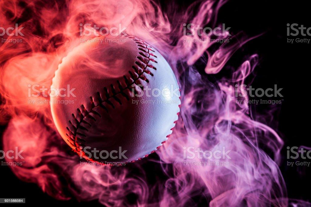 White baseball ball stock photo
