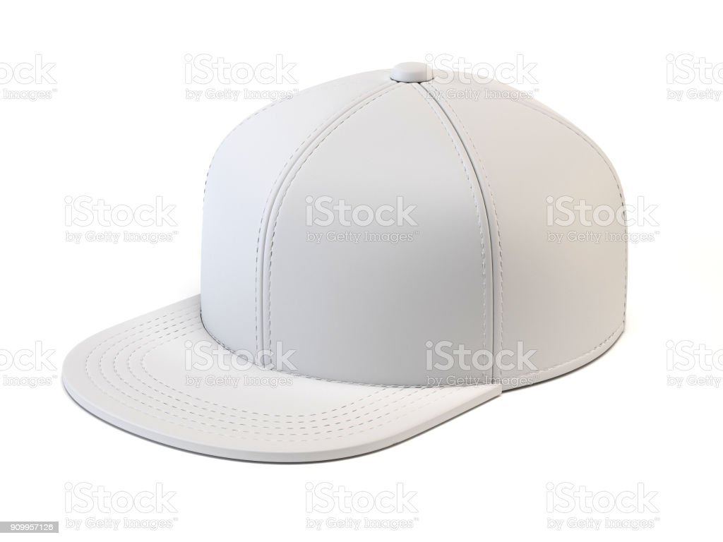 white baseball cap mock up blank hat template isolated on white