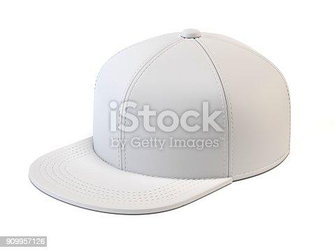 White Baseball Cap Mock Up Blank Hat Template Isolated On White ...