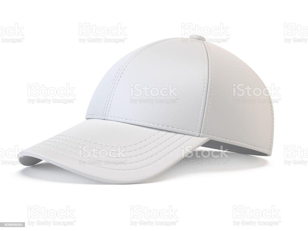 Mock Up Leere Hut Vorlage Isoliert Auf Weissem Hintergrund 3D Rendering Weisse Baseball