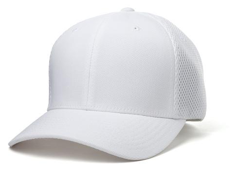 White Baseball Hat isolated on white