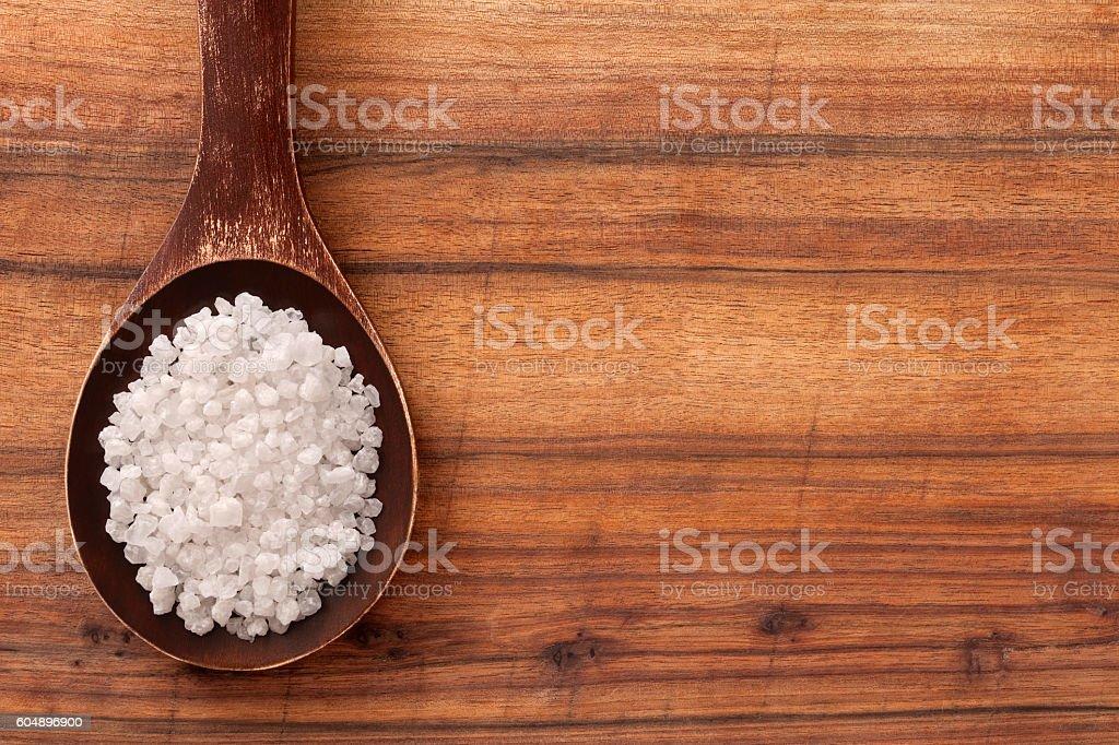 White bath salts stock photo