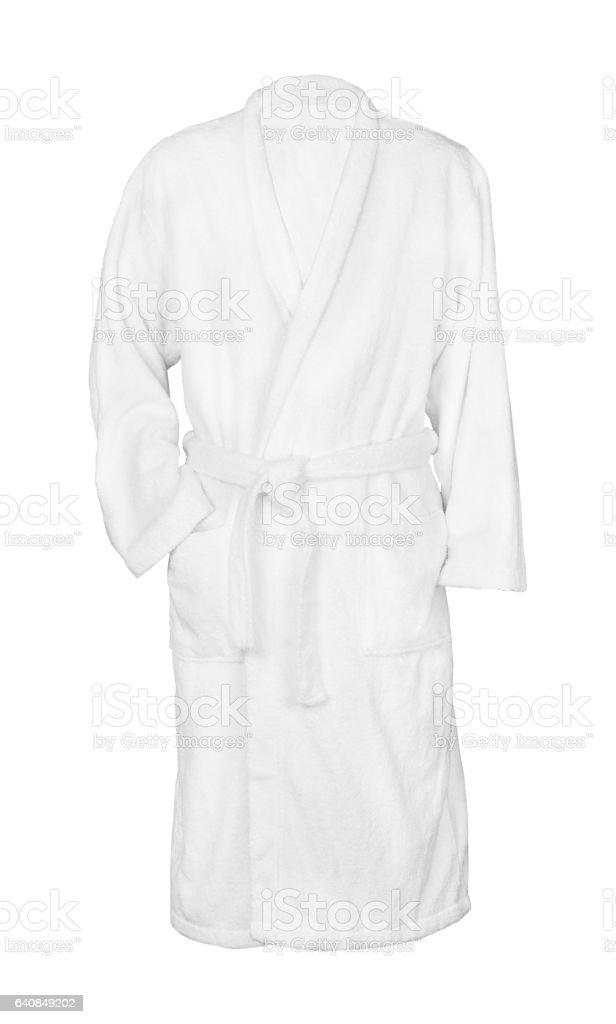 white bathrobe bathrobe - foto stock