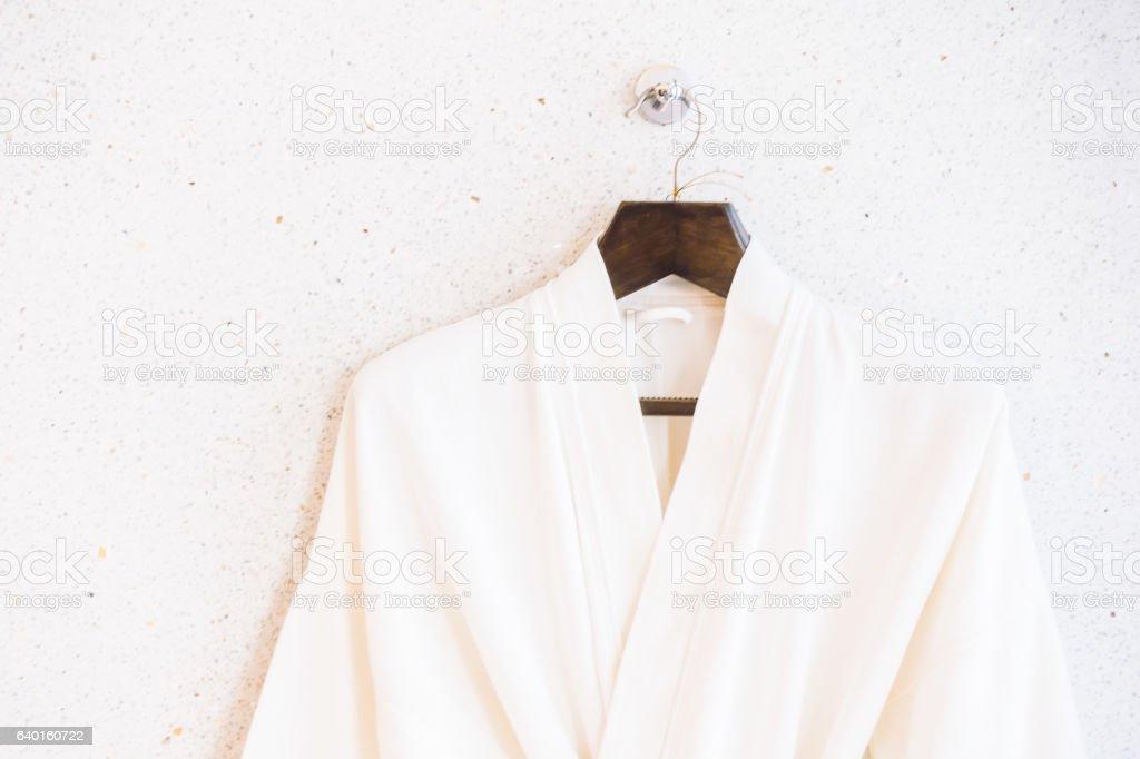 Weißen Bademantel – Foto