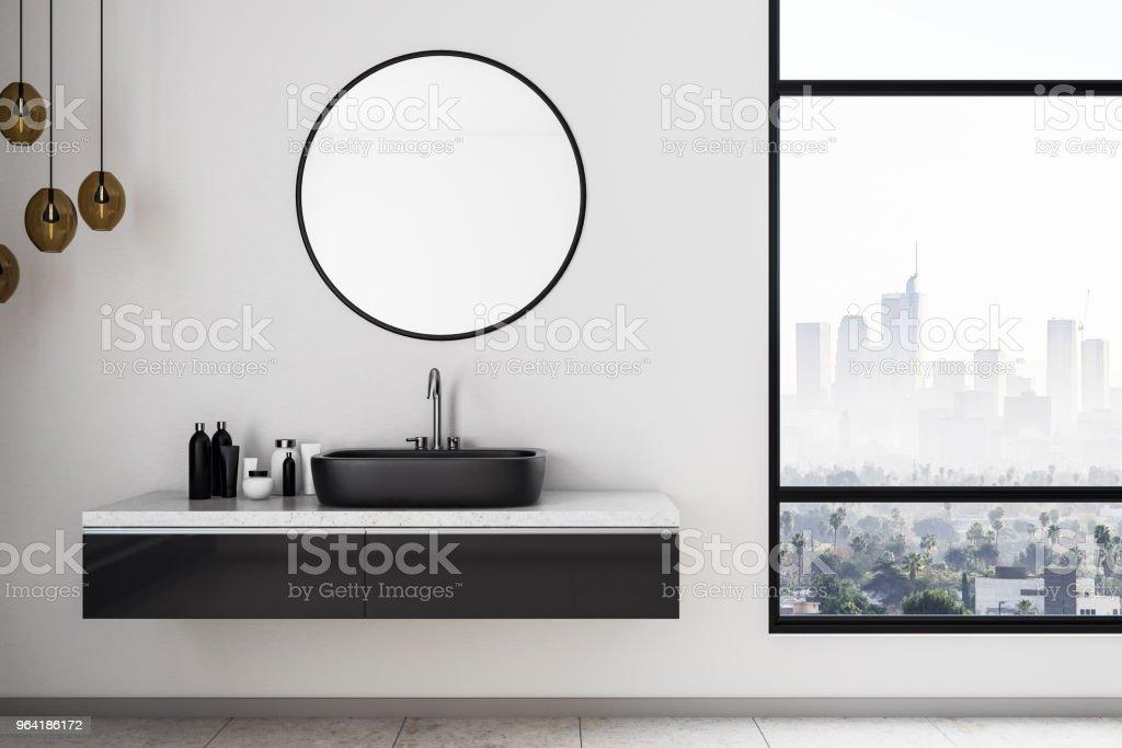 White bathroom interior stock photo