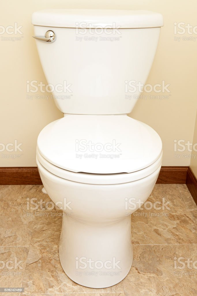 White Bathroom Toilet stock photo