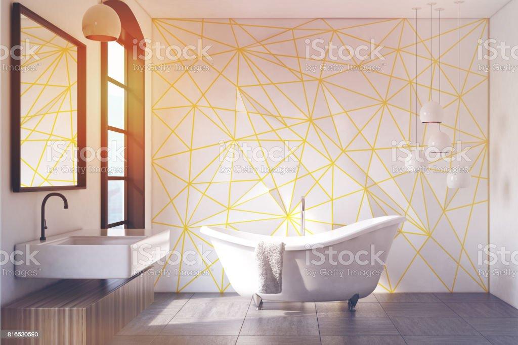 Photo libre de droit de Modèle De Salle De Bain Blanc Jaune ...