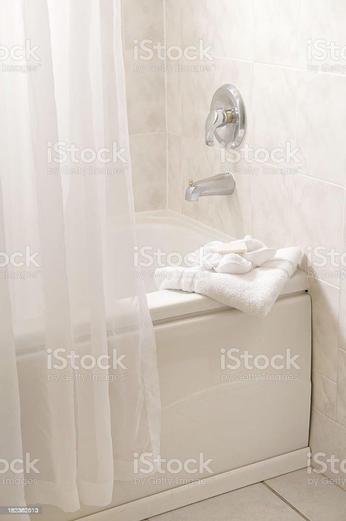 White Bathtub stock photo