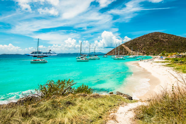 White Bay Beach, Jost Van Dyke, British Virgin Islands. – Foto