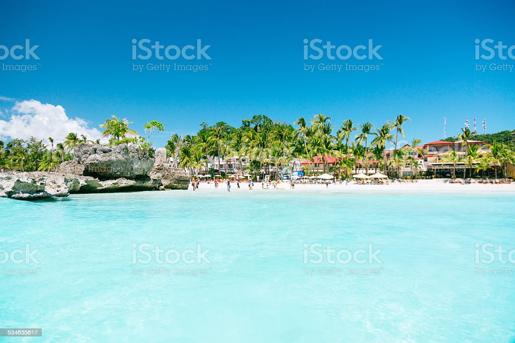 White beach - Boracay, Philippines stock photo