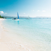 White beach Station 3. Image was taken on the Boracay island, Philippines