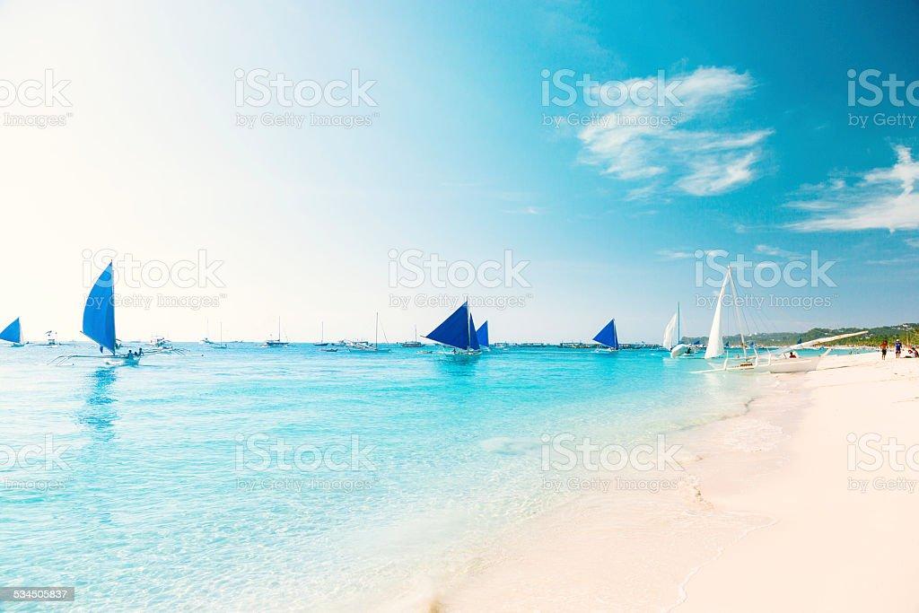 White beach, Boracay stock photo