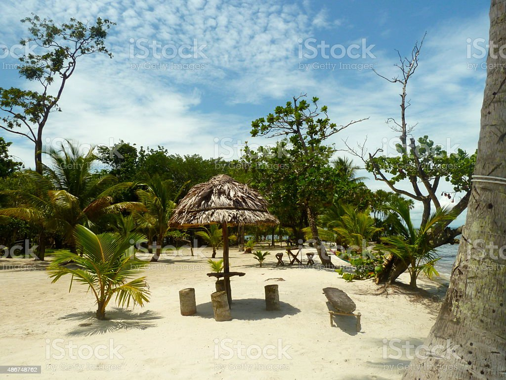 White beach - Guatemala stock photo