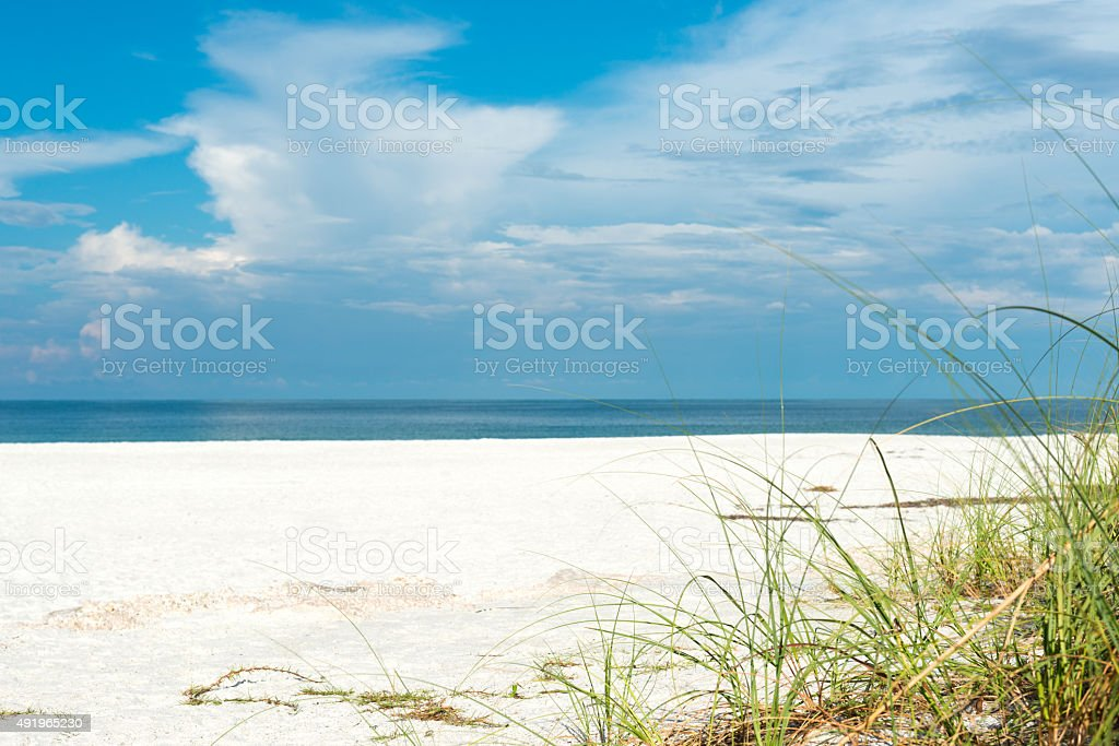 white beach on Anna Maria Island stock photo