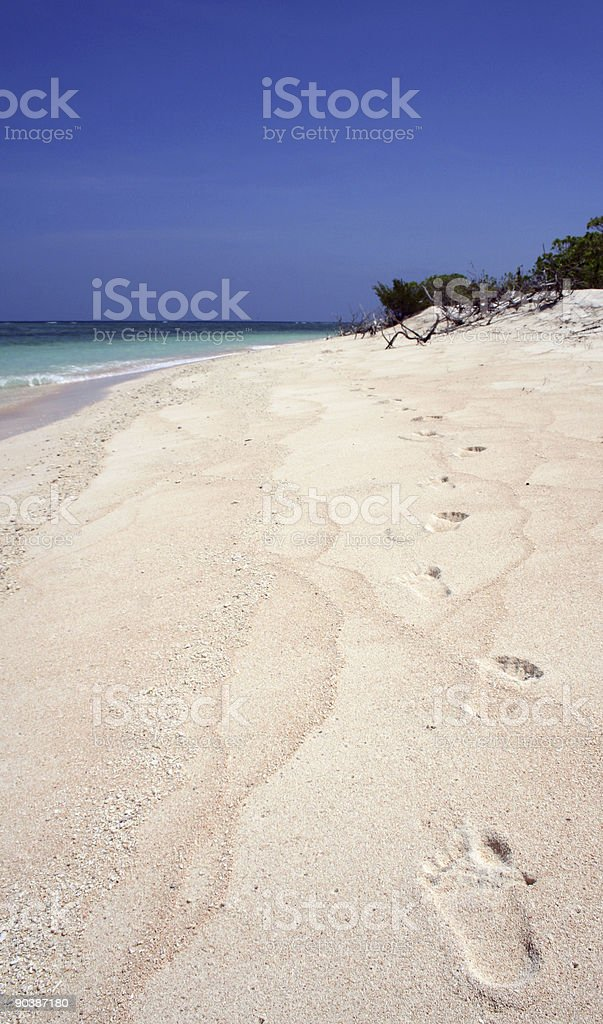 white beach shore walking philippines stock photo