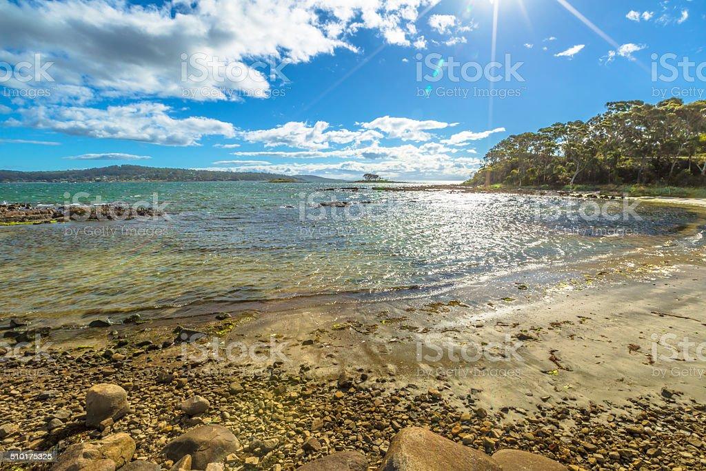 White Beach Tasmania stock photo