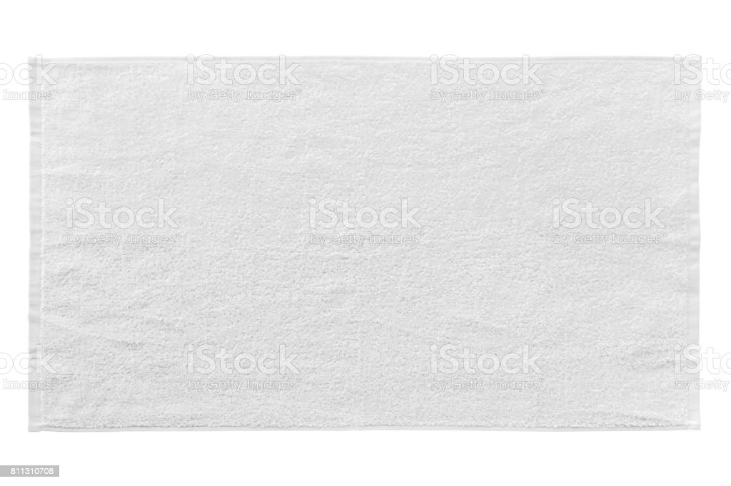 White beach towel isolated on white - foto stock