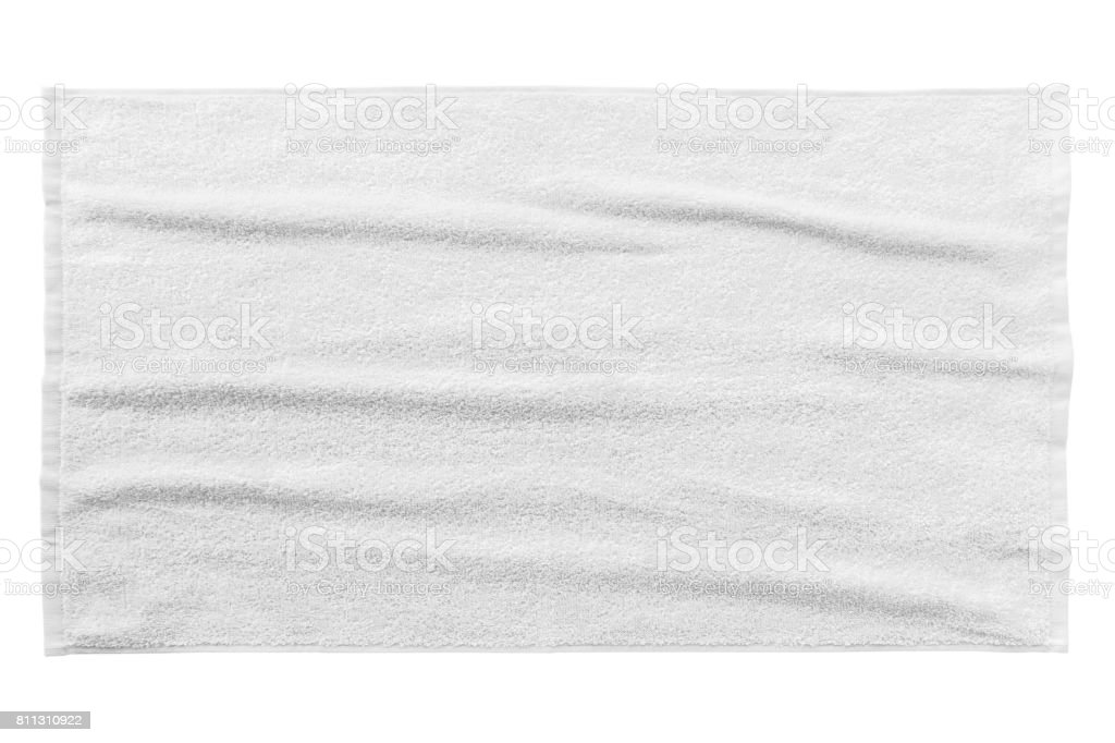 White beach towel - foto stock