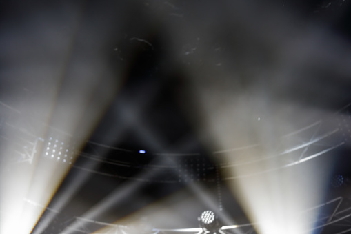 white beams of stage light