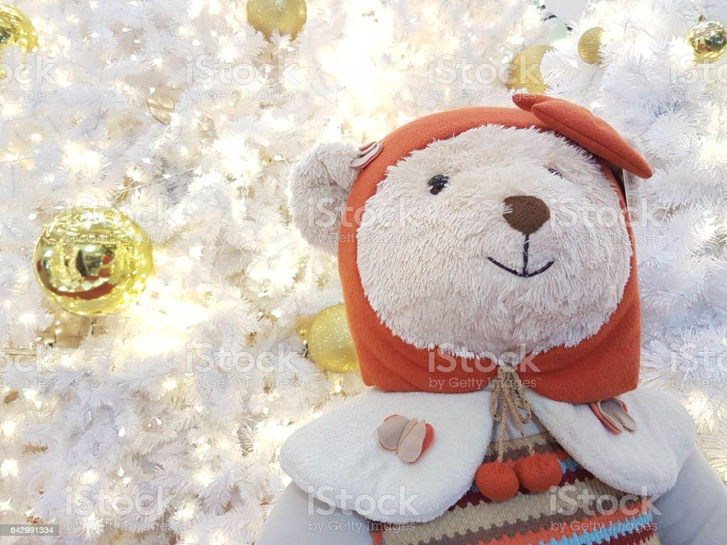 White Bear doll stock photo