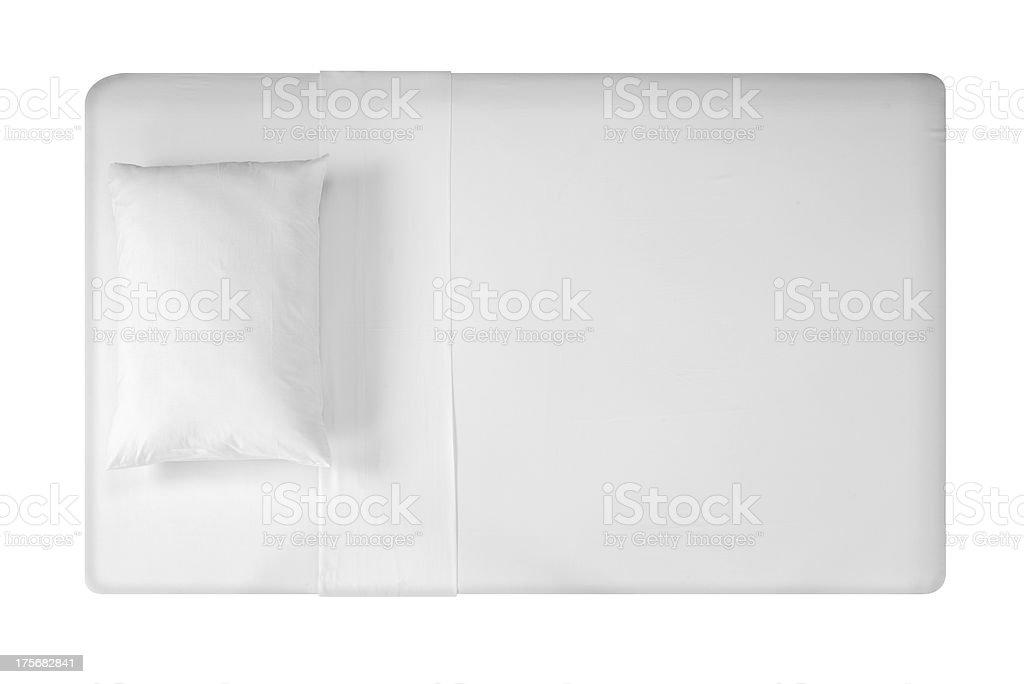 Weiße Bett. Clipping path – Foto