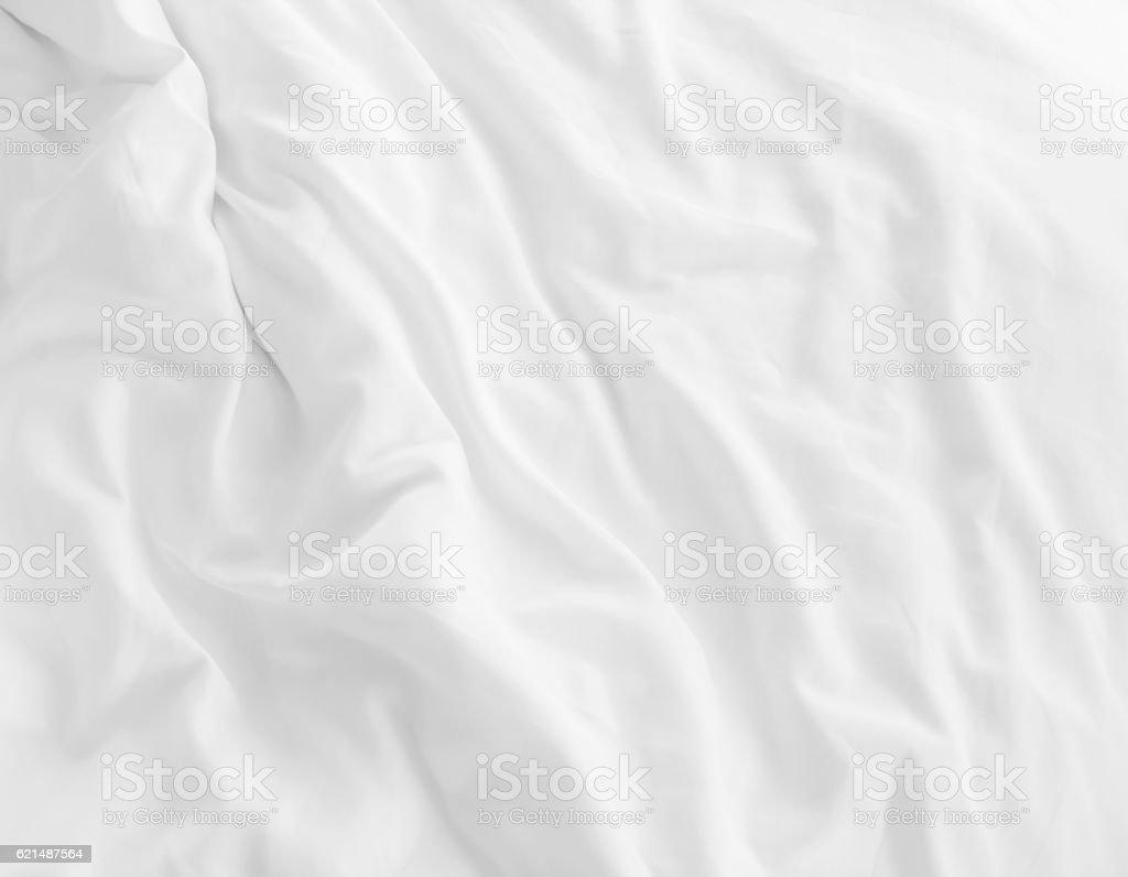Bianco lenzuola per il letto foto stock royalty-free
