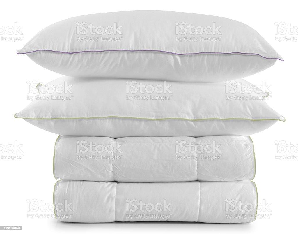 White bedding set. royalty-free stock photo