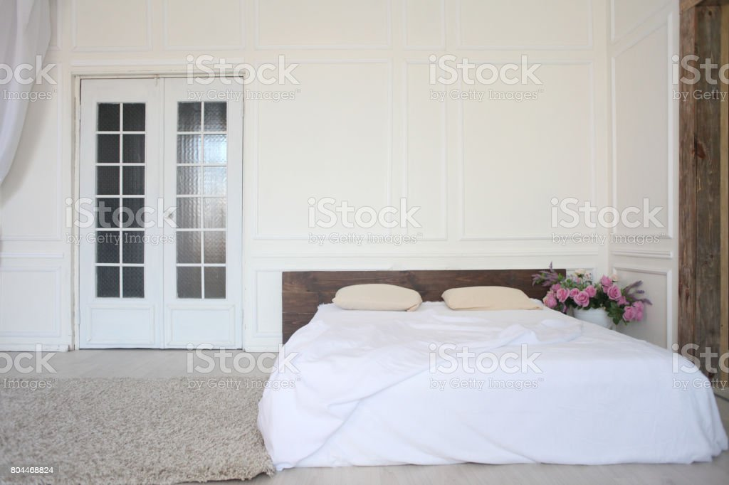White Bedroom Bed Morning Linen Vintage Stock Photo Download Image Now Istock