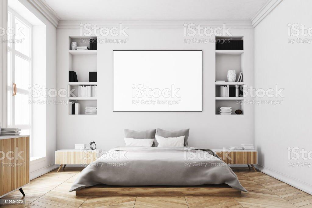 Weisse Schlafzimmer Interior Poster Vorne Stockfoto und mehr ...