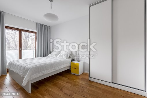 istock White bedroom with wardrobe 804037014