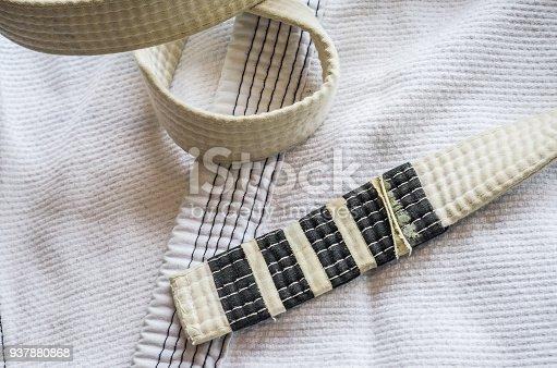 istock White belt of Brazilian Jiu-Jitsu 937880868