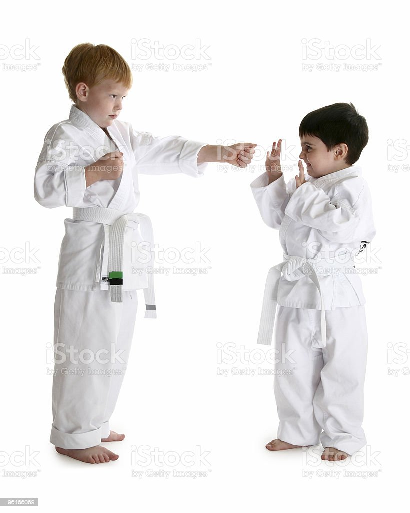 White Belts royalty-free stock photo