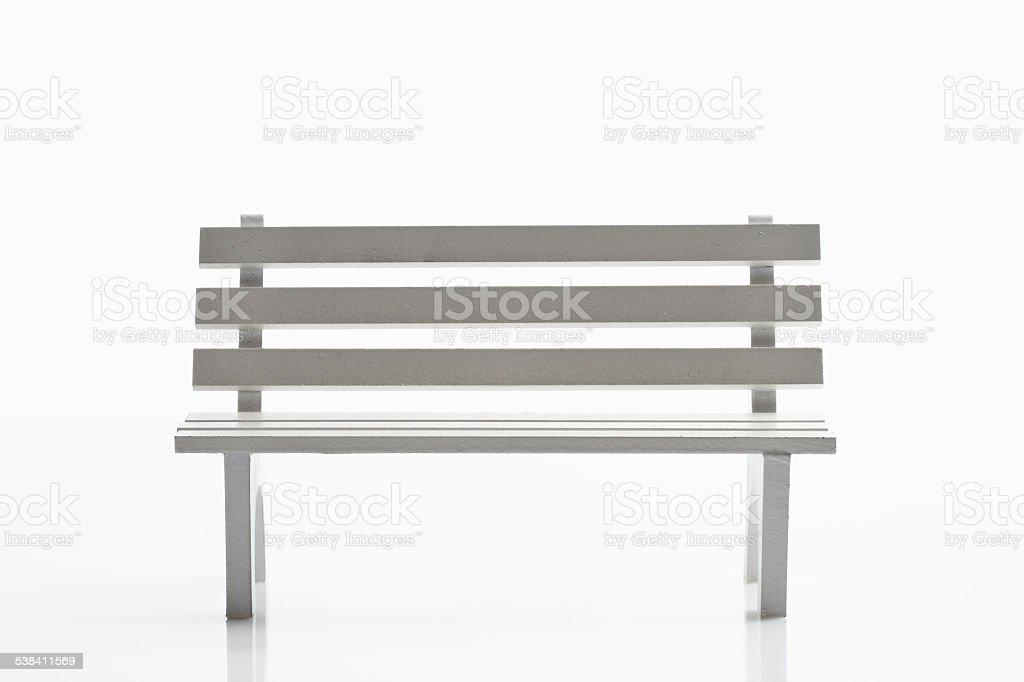 White bench stock photo