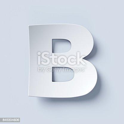 istock White bent paper font letter B 845304606