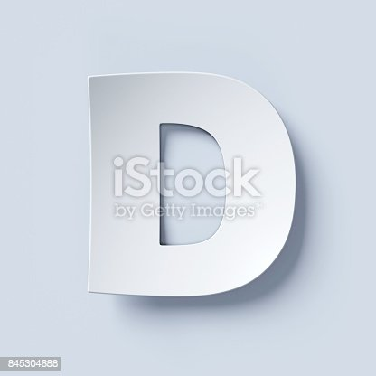 583978154 istock photo White bent paper font letter D 845304688