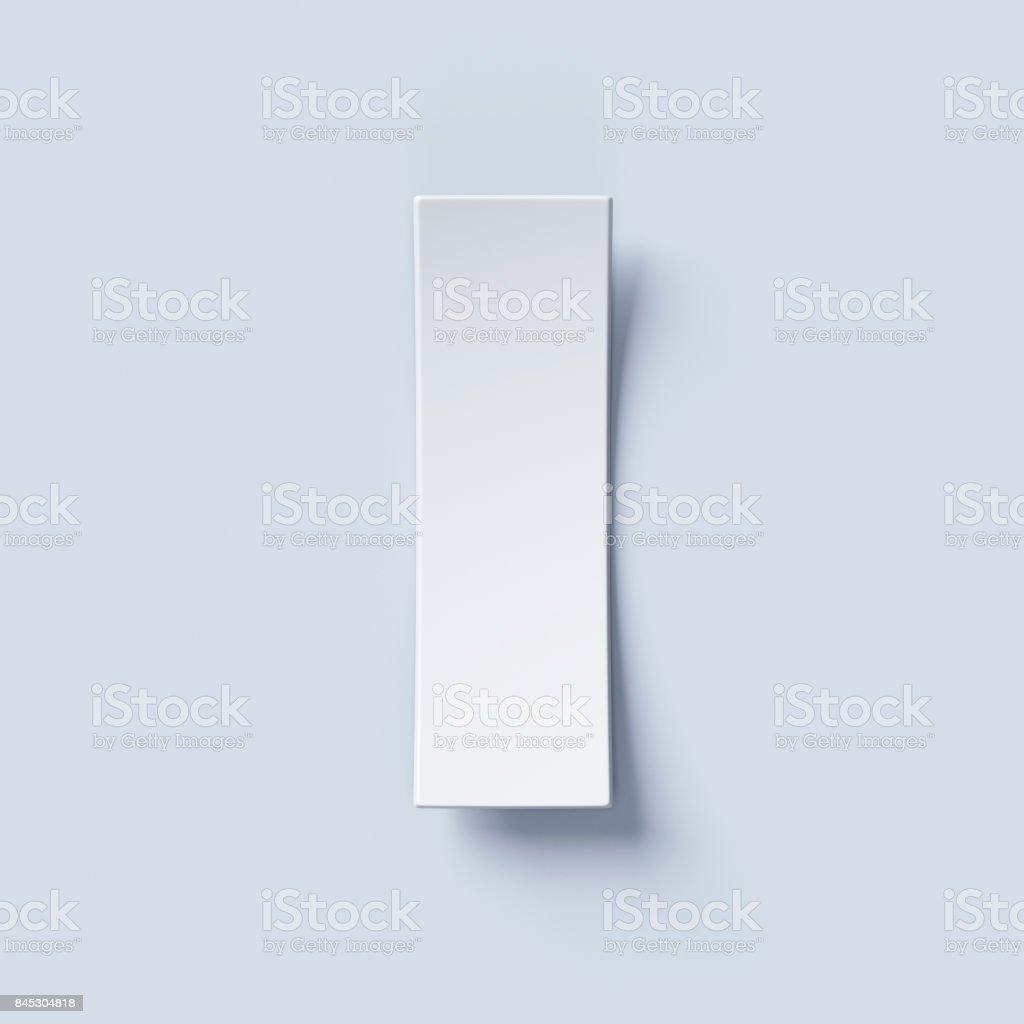 White bent paper font letter I stock photo