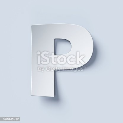 istock White bent paper font letter P 845305012