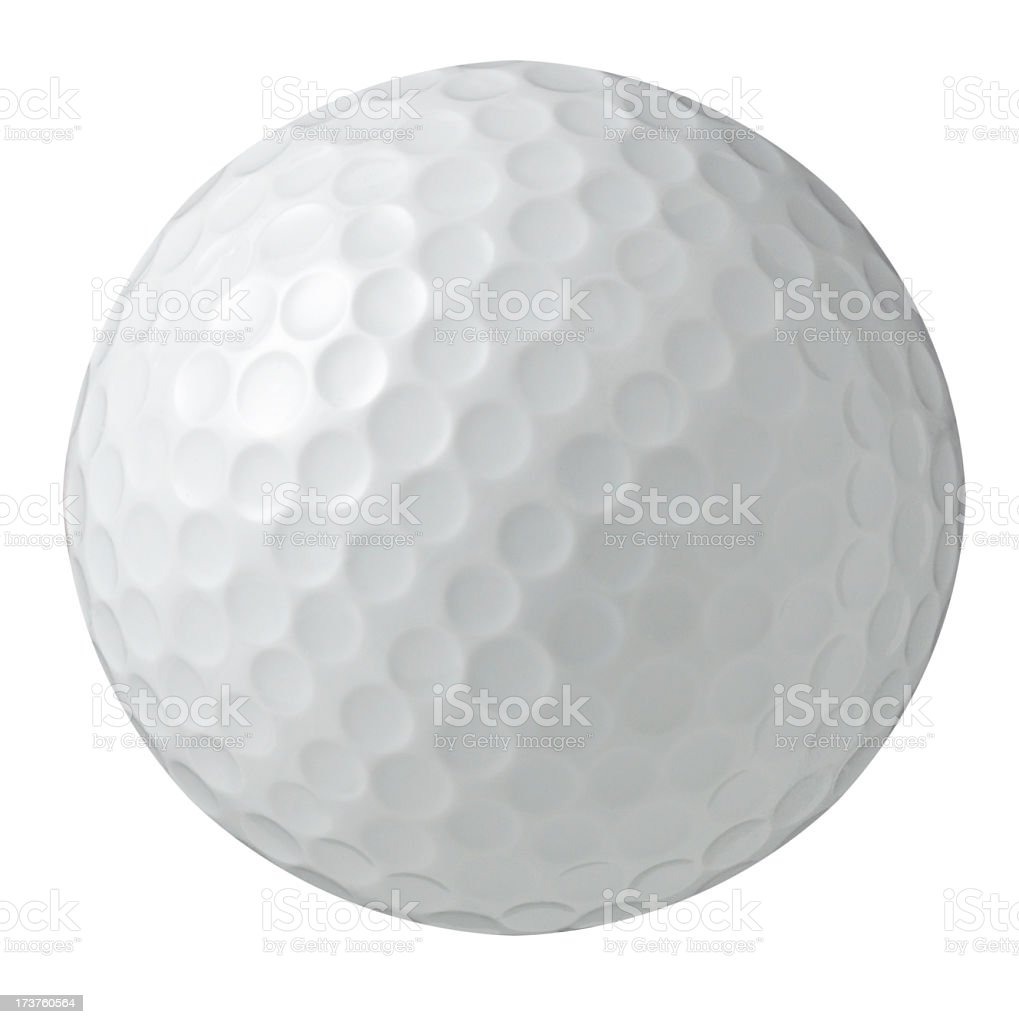 White Bg-Golf ball photographed on a isolated white background stock photo