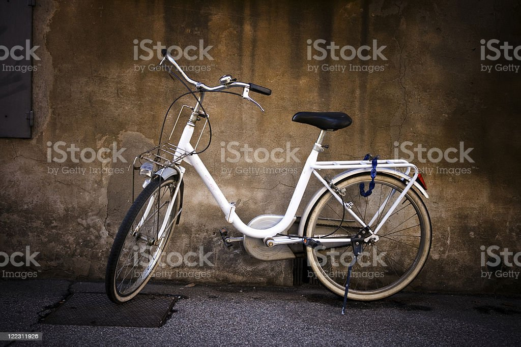 White bicycle royalty-free stock photo