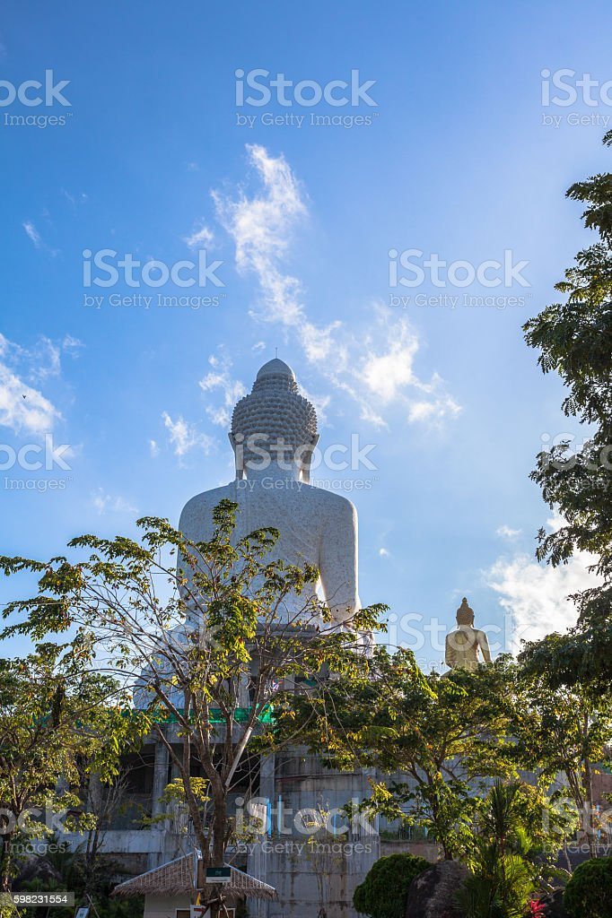 white big Buddha on hilltop foto royalty-free