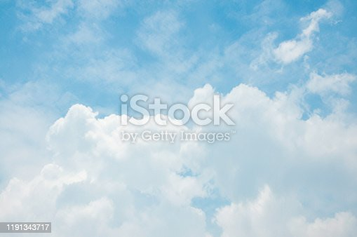 White big Cumulus clouds