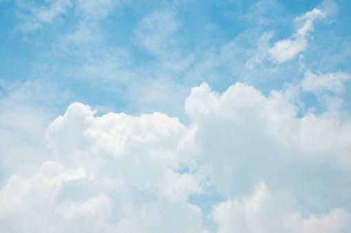 White big Cumulus clouds