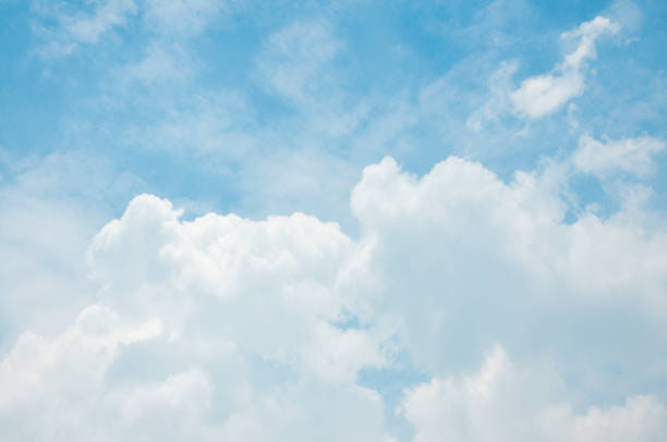 White big Cumulus clouds White big Cumulus clouds cloud sky stock pictures, royalty-free photos & images