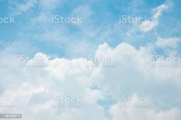 Photo of White big Cumulus clouds