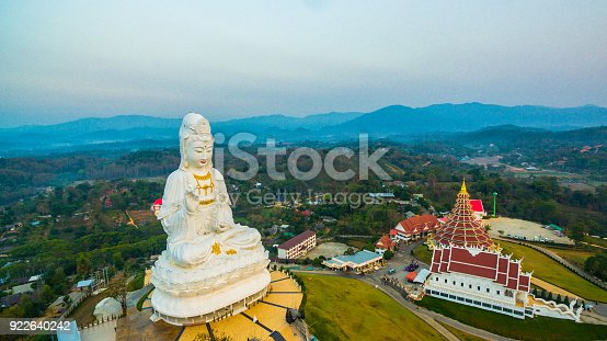 istock white big Guanyin statue in Chiang Rai the biggest Guanyin in the world. 922640242