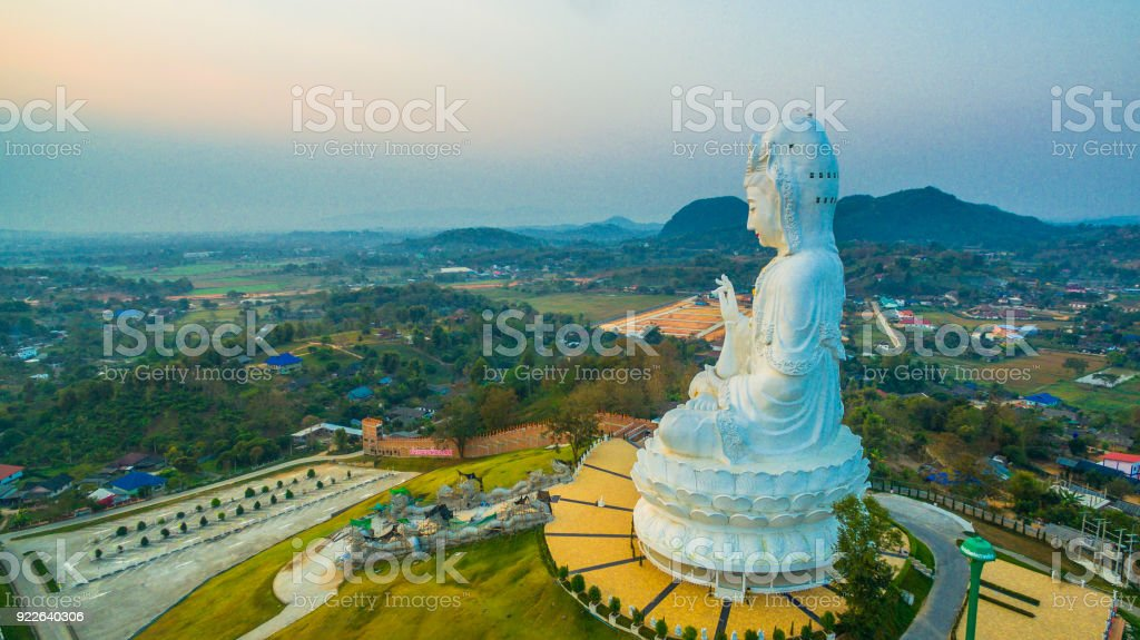 big view photography. White Big Guanyin Statue In Chiang Rai The Biggest World. Royalty- View Photography S